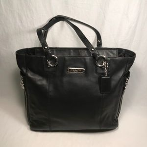 Coach Gallery (F19456) Soft Black Leather Tote Bag